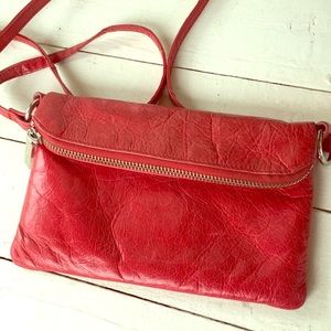 HOBO leather crossbody red purse small